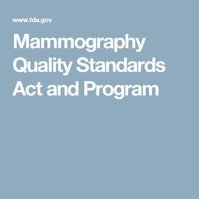 Mammography Quality Standards Act and Program