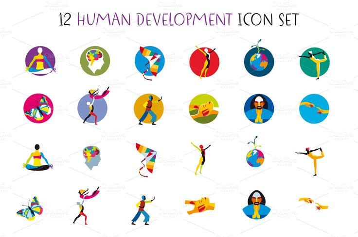 Human Development Icons Set by ÁRTICA on Creative Market