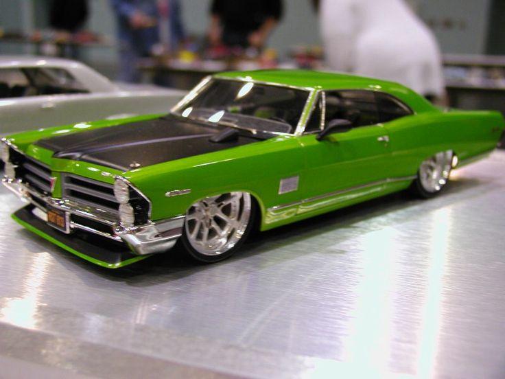 Custom green hot rod