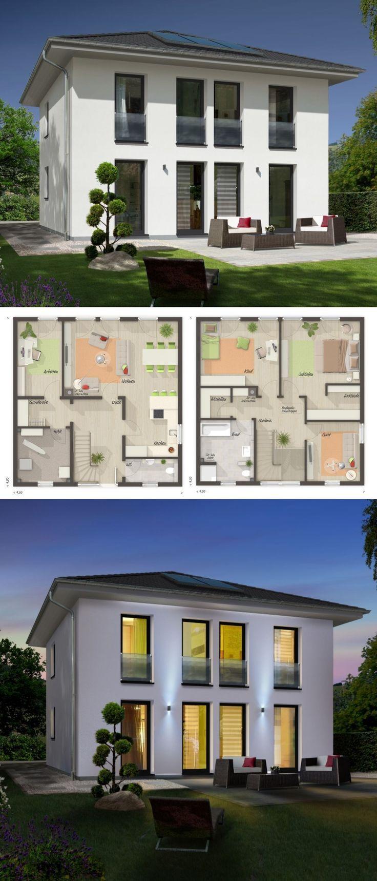 Klassische Stadtvilla Architektur modern mit Zeltdach & 5