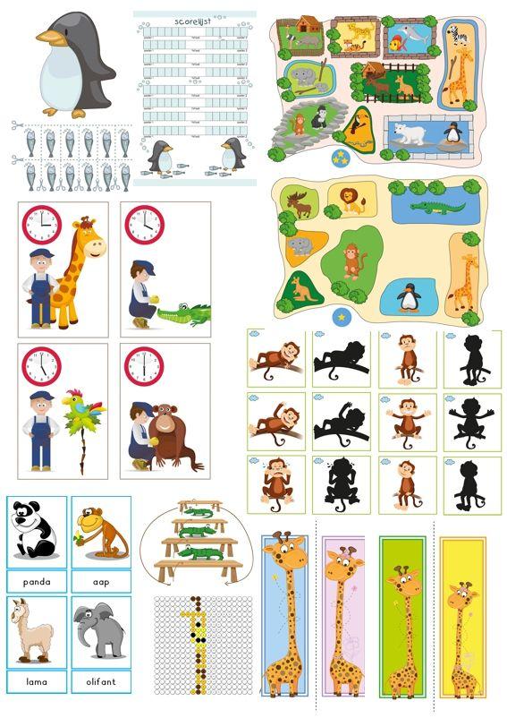Compleet uitgewerkte lessen voor ruim 3 weken bij thema de dierentuin voor kleuters, van juf Petra van kleuteridee, kleuteruniversiteit