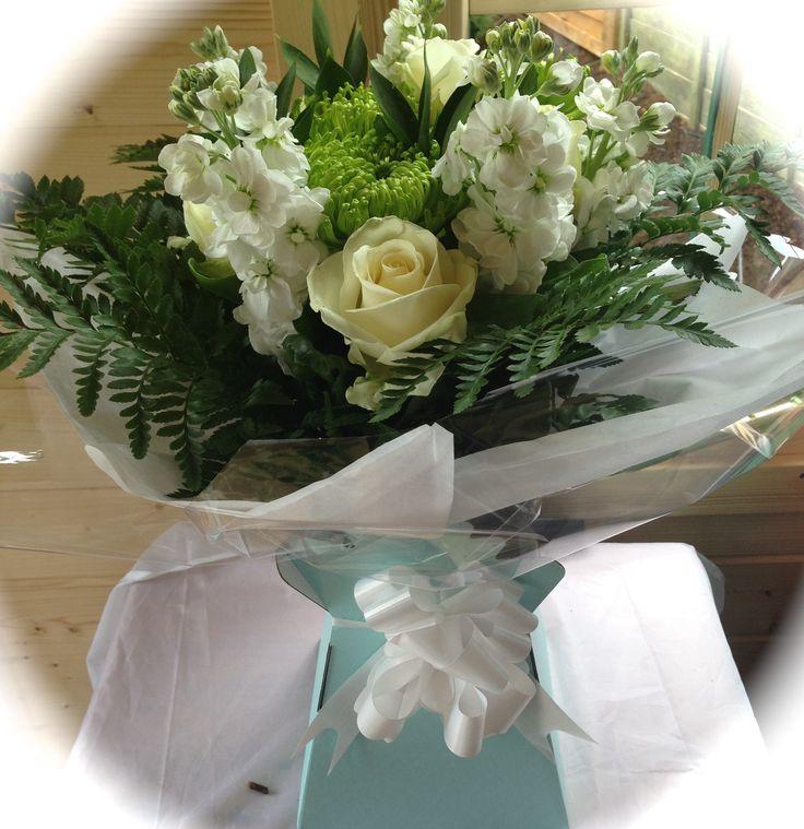All white flower bouquet