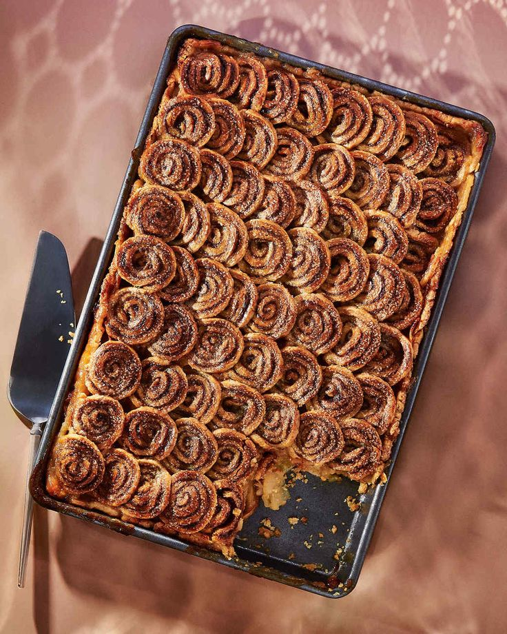 Extra cinnamon-swirl dough slices like cookie dough -- and becomes crisp and caramelized in the oven, much like palmiers. Bake it on a parchment-lined baking sheet until very golden, about 12 minutes. You'll be thankful you did at your morning coffee break.