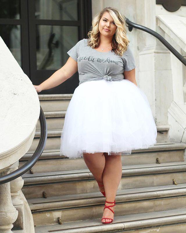Loving this plus size tutu from Society Plus - Plus Size Tutu in White (sizes 1X - 6X)