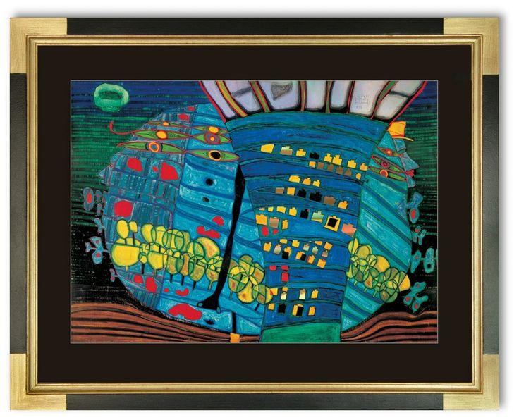Bild Friedensreich Hundertwasser Der BLAUE MOND- ATLANTIS