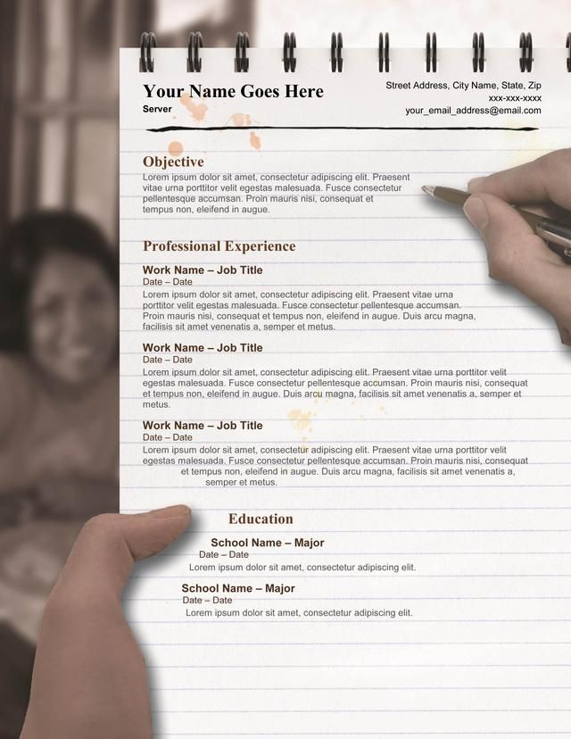 Server resume template - make your resume stand out in the crowd ...