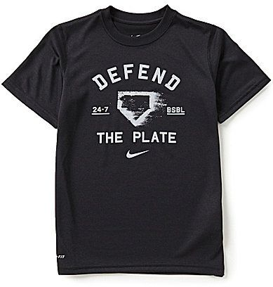 Nike Big Boys 8-20 Dri-FIT Legend Defend The Plate Short-Sleeve Tee