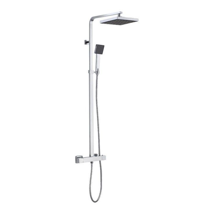 TAKDUSCHPAKET CAMARGUE TENEDOS SQUARE CC160 - Duschblandare - Blandare för badrum - Badrum