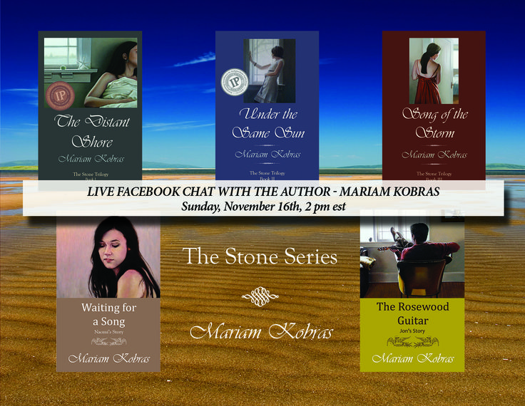 LIVE CHAT WITH THE AUTHOR - MARIAM KOBRAS  Sunday, Nov 16th at 2 PM EST Join us!