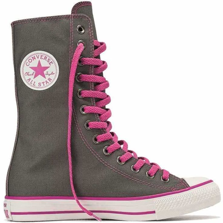 Tênis Converse All Star CT AS Specialty X-Hi Cano Alto Casual Feminino Cinza / Rosa