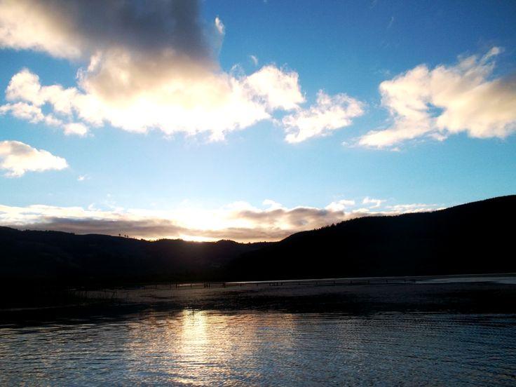 Chilean Lake, Contulmo, Chile.