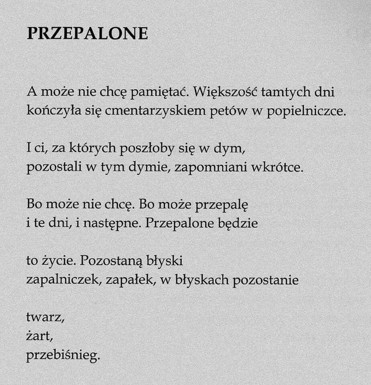 """""""Przepalone""""  Marcin Świetlicki"""