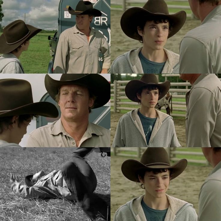 Shane: I never read anything about a shoulder injury.  Tim: Yeah, well, that's 'cause it didn't happen at a rodeo. Gunshot.  Shane: Wait. Really?  Tim: Yeah. Yeah, real standoff. Some of the meanest, orneriest cattle rustlers you ever met in the West. I don't talk about it much... There were a lot of rifles. Amy was surrounded by them; They were all aimed at her. I had to. And then I dove. Dove in front of a bullet. I had to run 100 to 150 yards - a sprint. Yeah, I won't forget it... (5x07)