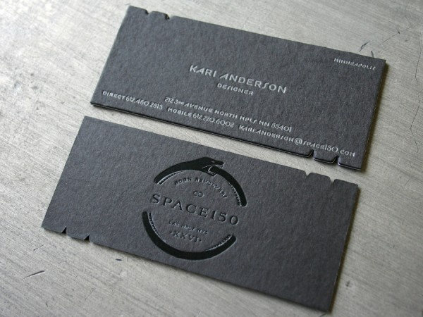 337 best business cards images on pinterest carte de visite black business card designs look elegant especially those letterpress printed ones here are 27 black letterpress business cards for inspiration reheart Image collections
