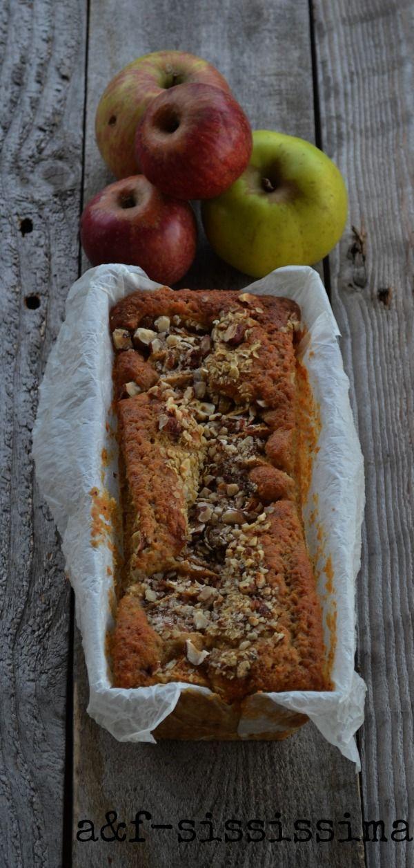 acqua e farina-sississima: Re-Cake 2.0: torta di mele, nocciole e avena
