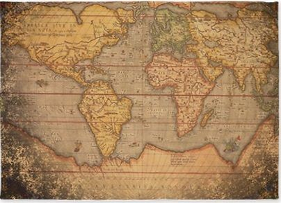 World Maps Rugs Antique Bedding Vintage Old Map
