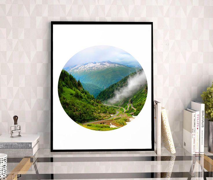 #Switzerland, #Grimsel #Pass #Mountain #Photography, #Foggy #Print, #Alps, #SwissAlps #Alpine #Road, #MountainRoad #Clouds, #WallDecal, #WallArt #Decor,  #PrintablePrints, #11x14 by #JuliaApostolovaArt on #Etsy #MinimalPoster #Office #Decor by #JuliaApostolova #officedecor #interior #homedecor