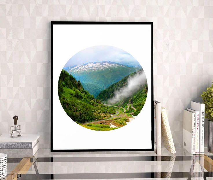 #Switzerland, #Grimsel #Pass #Mountain #Photography, #Foggy #Print, #Alps, #SwissAlps #Alpine #Road, #MountainRoad #Clouds, #WallDecal, #WallArt #Decor,  #PrintablePrints, #11x14 by #JuliaApostolovaArt on #Etsy #MinimalPoster #Office #Decor by #JuliaApostolova #officedecor #interior #homedecor