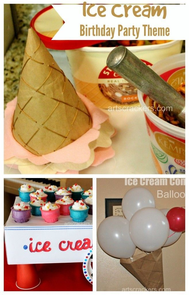 Ice Cream Birthday Party Theme Ideas. Click the picture to read more.