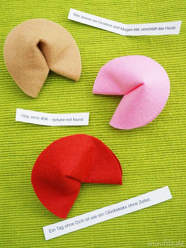 Einfach gemachte Glückskekse mit tollen Sprüchen