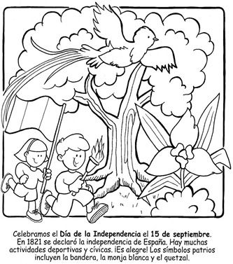 Downloadable Coloring Page | Guatemala Day of Independence September 15