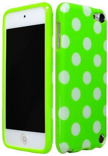 Bastex Polka Dot Gel Flex Case TPU Cover for Apple iPod Touch 5th Generation 5G itouch 5 Green White by BastexWireless, http://www.amazon.com/dp/B00A4EWPN2/ref=cm_sw_r_pi_dp_yw17rb13XGH3S