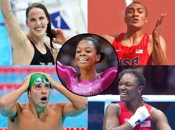 Gabby Douglas, Missy Franklin, Claressa Shields, Ashton Eaton, Chad Le Clos