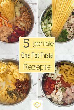 One Pot Pasta - die 5 besten Rezepte für Nudeln aus einem einzigen Topf!