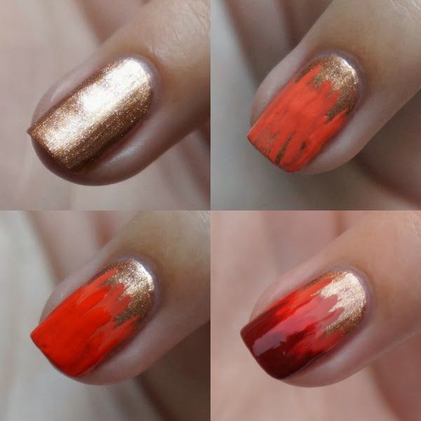 DIY Nail Art | Nails ~ Autumn #nail #nails #nailart @Kaley Kelsey , this is very fall/autumn, but Im also thinking this would be good for Catching Fire!!!!!