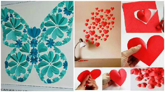 11 espectaculares ideas para decorar con corazones de - Papel para pared con gotele ...