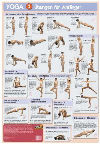 Poster Yoga I Übungen für Anfänger: Yoga-Grundübungen immer im Blick mit dem Yoga-Poster. Tägliche Yoga-Übungen halten fit und schlank.