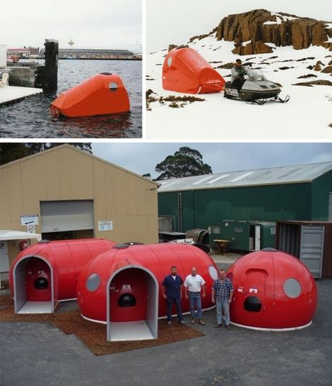 Ice Wall One: Modular Extreme-Weather Shelters. I bet it would even be great in Florida's high heat and humidity where I live. LD.