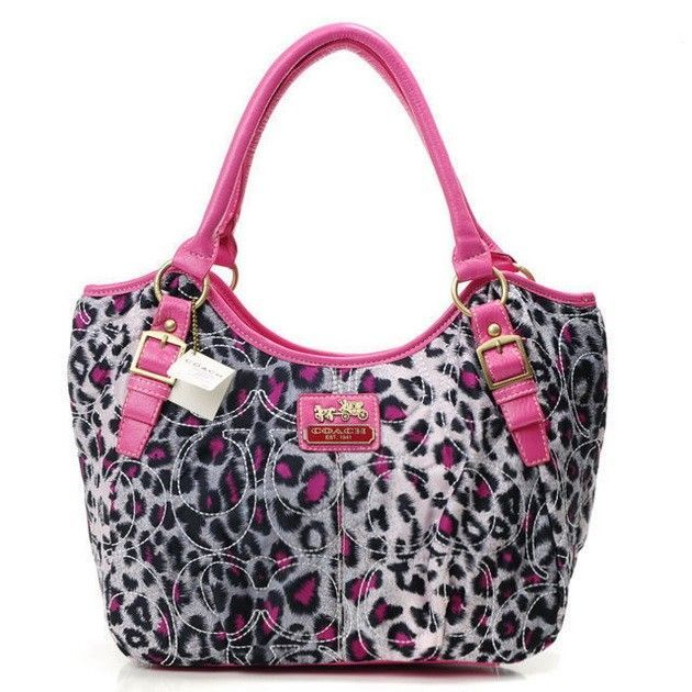 Ok I'm pinning this because it leopard and coach #Coach #Purses