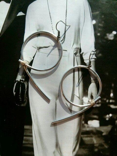Orecchini in filo di alluminio