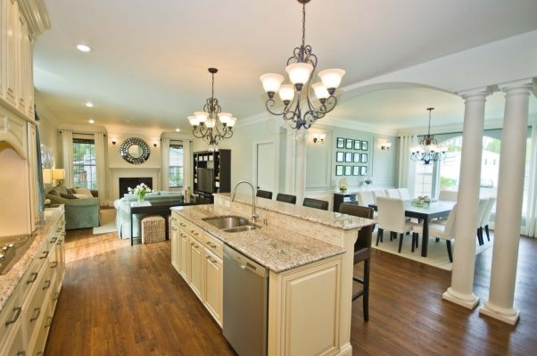97 best kitchens images on pinterest for Open kitchen style