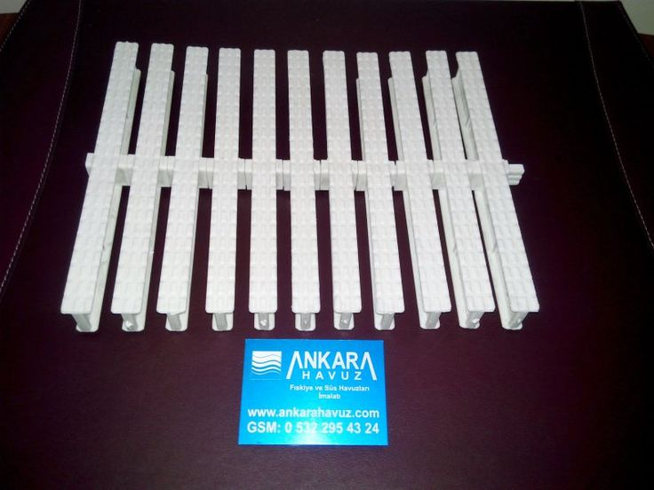 PVC Havuz Kenarı Savak Izgara Çift Ve tek Geçmeli 15 20 25 30 CM