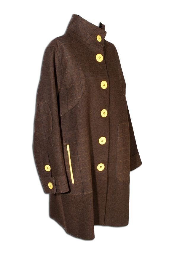 Yellow buttons coat