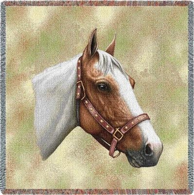 Pinto Horse Tapestry Throw