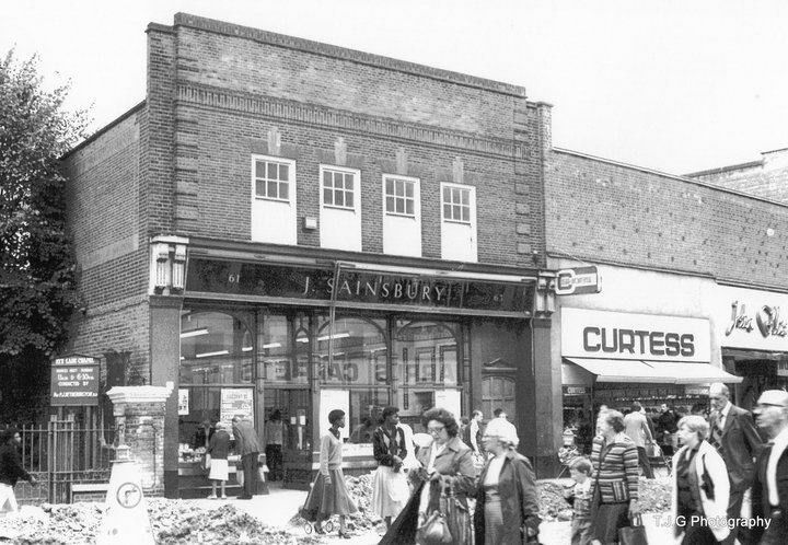Peckham Rye Lane Peckham South East London England in the late 1970s or Early 1980s.  The old J Sainsbury Food Shop.