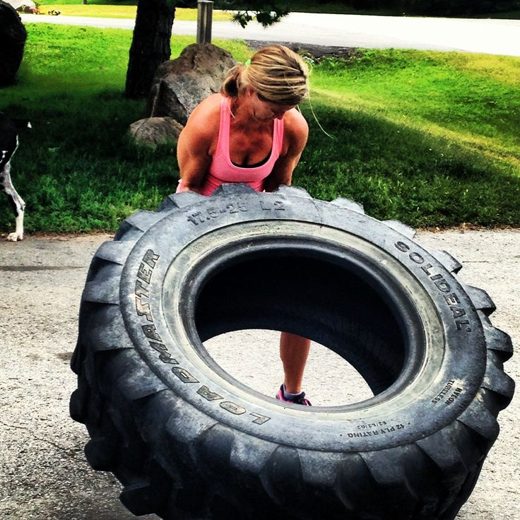 Tire flipping Phat Azz Fitness style