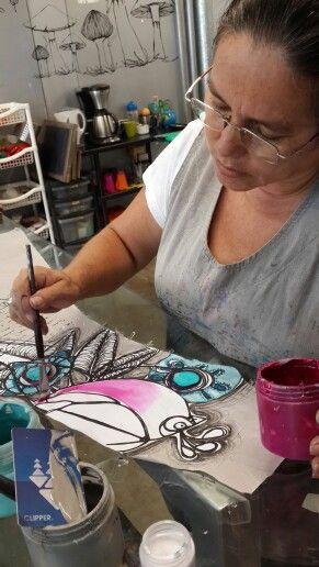Amanda...proceso pintura!
