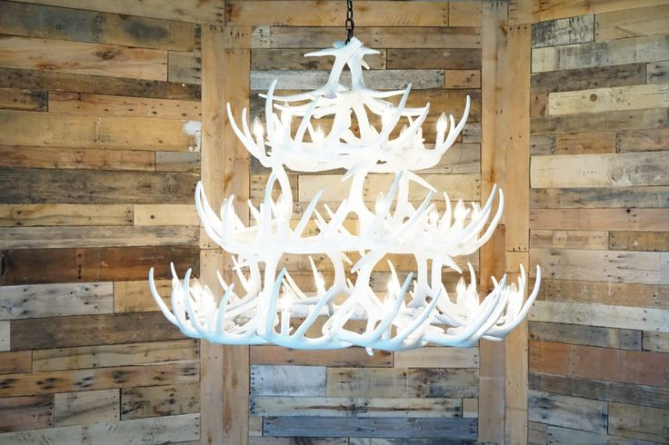 The lightweight material of our Whitetail Deer 42 Antler Chandelier makes it easy to hang and move. A beautiful statement piece for your home or cabin!