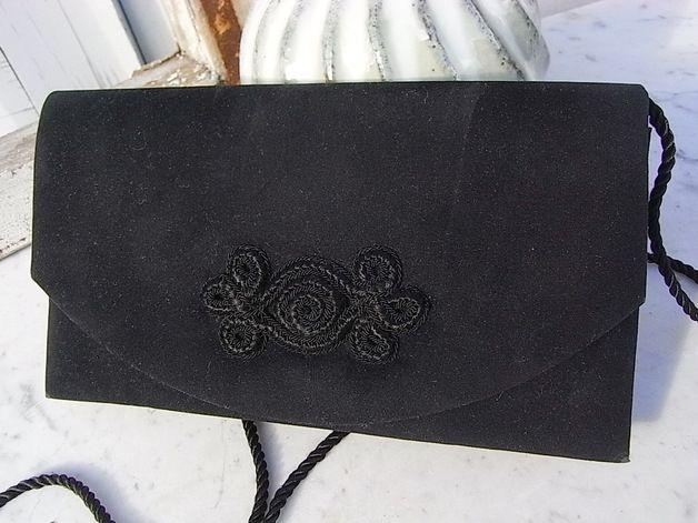 Vintage Handtaschen - Samt Abendtasche Tasche Theatertasche 70er Jahre - ein Designerstück von artdecoundso bei DaWanda