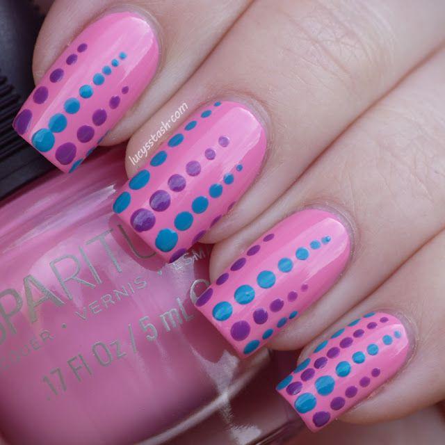Dotted nails!Lucy s Stash #nail #nails #nailart