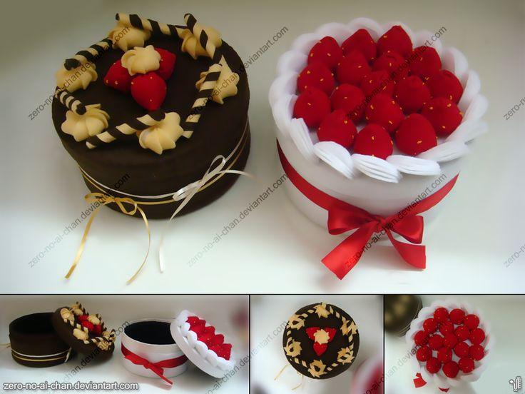 Felt Cake Box by ~zero-no-ai-chan