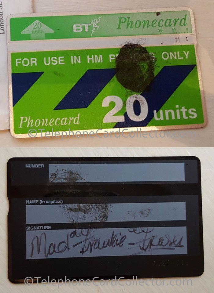 """Fake or real? Frank Davidson """"Frankie"""" Fraser, better known as """"Mad"""" Frankie Fraser - signed HM Prison BT Phonecard"""