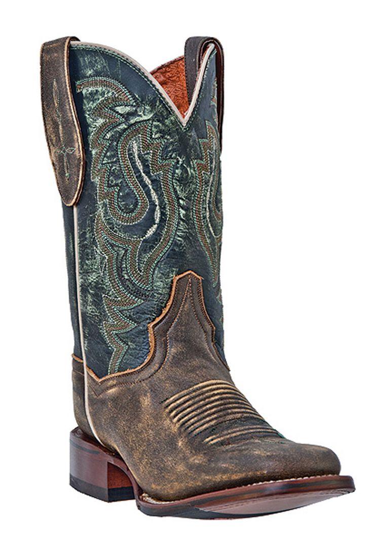 Dan Post Women's Dry Creek Vintage Tan Square Toe Cowgirl Boots
