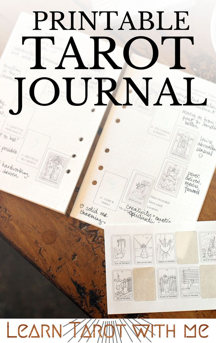 Filofax refill pages to use as a tarot journal with pre-printed tarot spreads. Use the tarot as you plan your day (and week and month)!