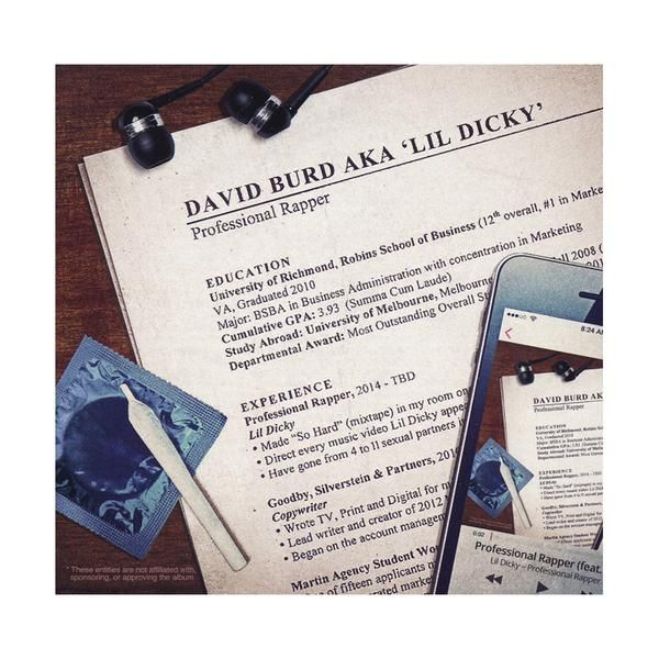 Lil Dicky - Professional Rapper - CD - buy, tracklisting, cover art