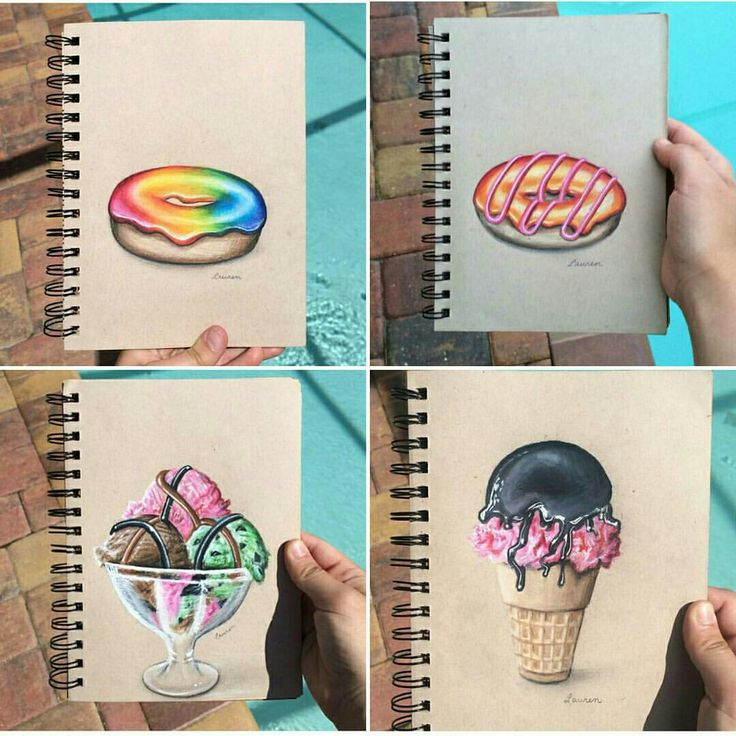 Cool drawing Donuts & Ice creams